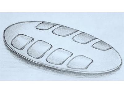 Zeichnung der neuen Handytastatur GoBraille für Blinde